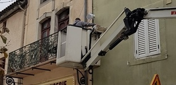 Installation d'une sonorisation et systeme d'alerte à Alzonne (11) Le 26 Octobre 2018