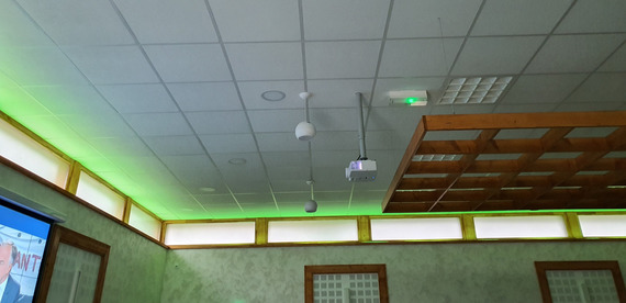 HPs et Video projecteur plafond