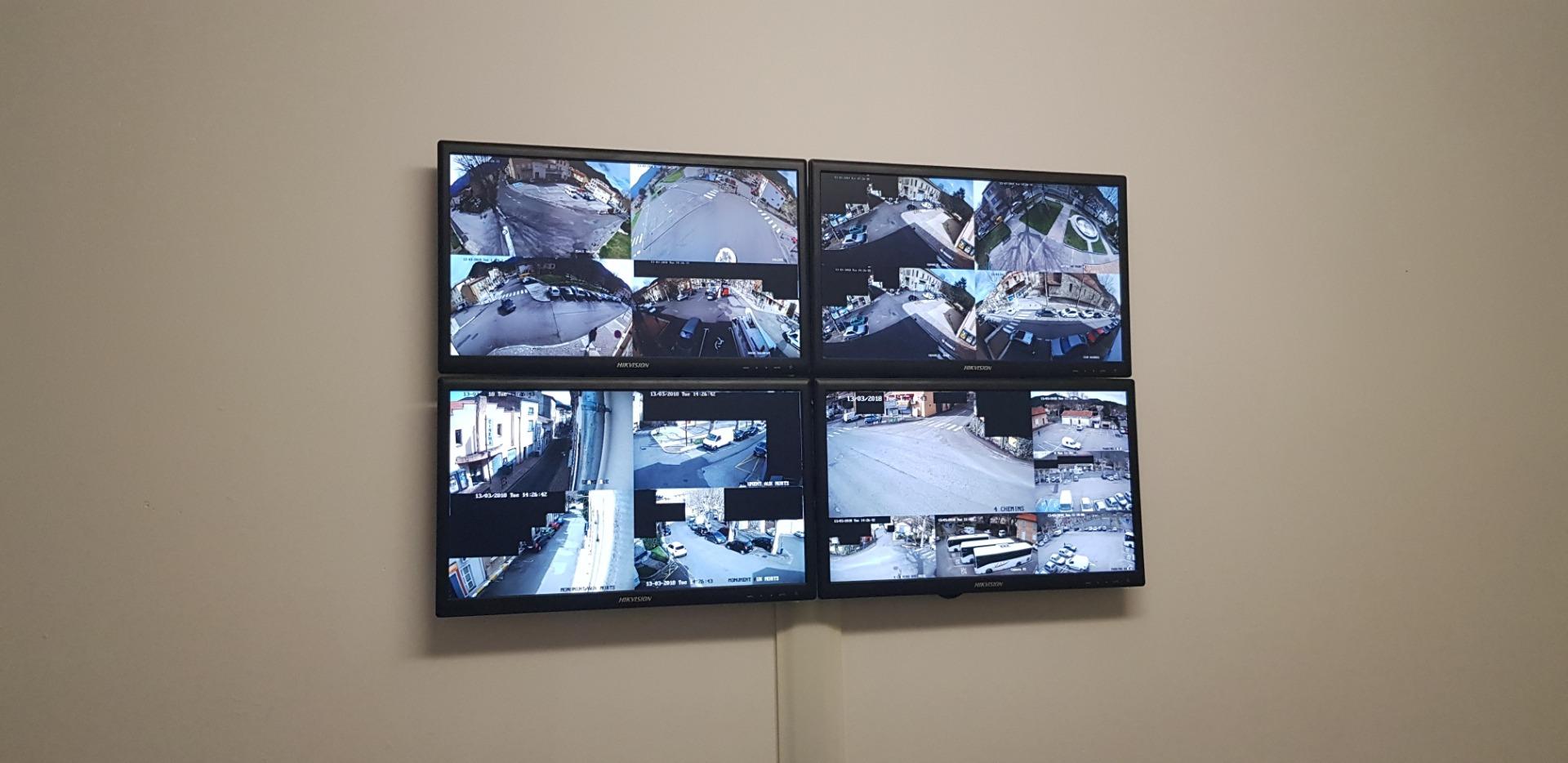 Ecrans surveillance caméra
